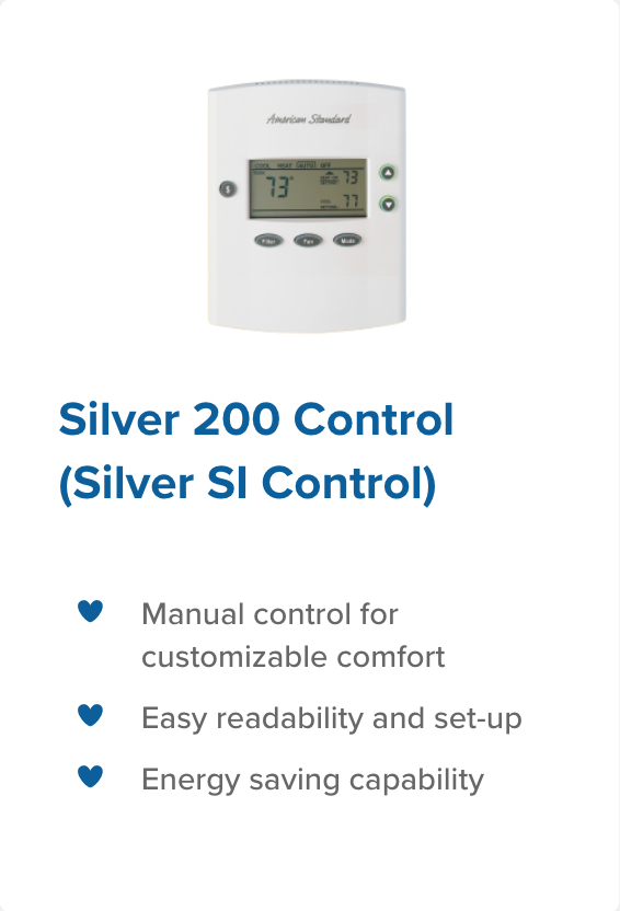 silver 200 control legacy heating and cooling